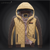 Fashion 2014 Winter Men Padded Cotton Jacket With Hood For Man Outdoor Sports Out Wear  Men's Coats & Jackets Size M- XXXL