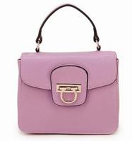 2014 new women handbags Lichee Pattern Messenger shoulder buckle embossed cowhide genuine leather bag