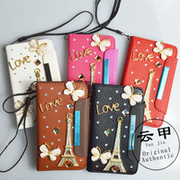 for MOTO MB855 3D diamond case top Quality leather Card case Card Holder diamond case+free gift