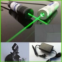 10mw 532nm LINE green laser diode module with power supply and laser bracket plug and use