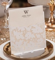 Laser Cut Flower Lace Pocket wedding invitation card , Birthday Invitation Business invitation card ,100PCS/lot, Free 101