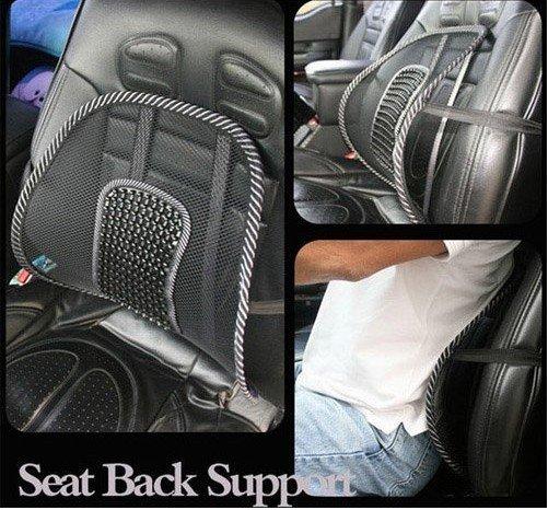 2014 New Car Seat Chair Massage Back Lumbar Support Mesh Ventilate Cushion Pad Black Free shipping(China (Mainland))
