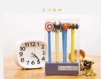 Free ship 1lot=24pcs/korean stationery kawaii The hero theme neutral pen/creative writing signature pen shape gel pen