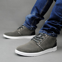 Autumn and winter men's casual shoes high-top frosted tide Korean men's shoes