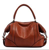 High Quality Europe Vintage Genuine Leather Women Bag, Messenger Bag Ladies Shoulder Bags, Handbag Black/Brown 2014 New Hot Sale