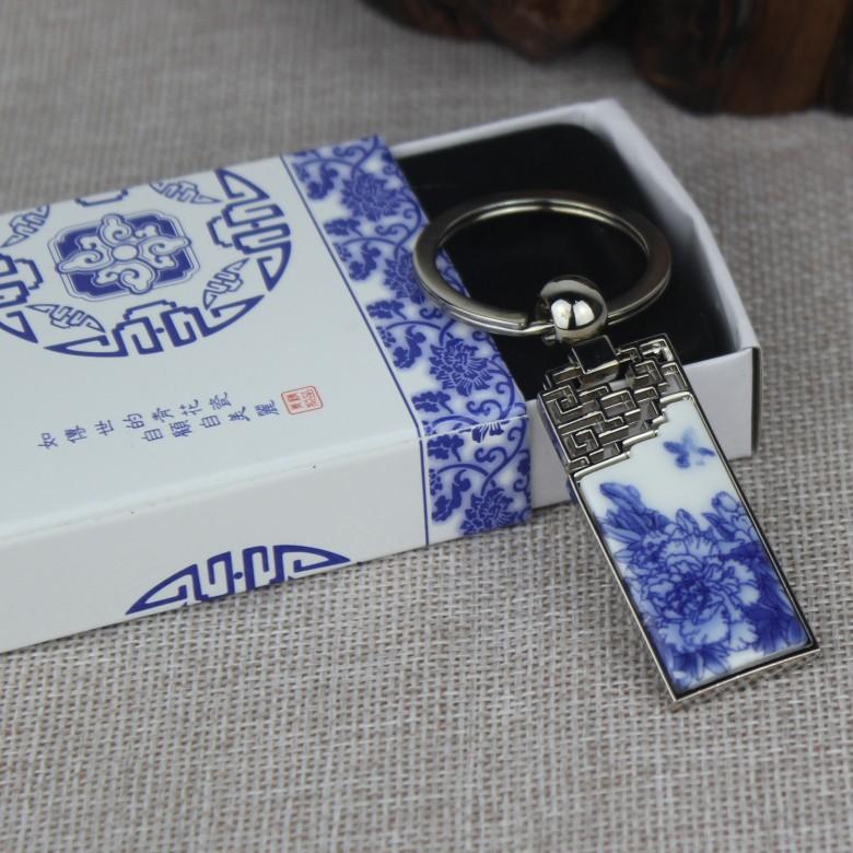 Jingdezhen blue and white porcelain key Chinese wind peony(China (Mainland))
