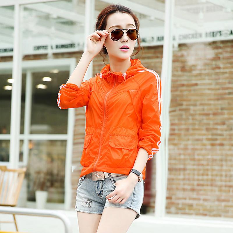 2014 verão novas jaquetas esportes ao ar livre , sol roupas de proteção UV , manga comprida com capuz protectores solares mulheres camisa jaqueta(China (Mainland))