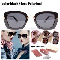 famous Original brand designer ladies sunglasses women polarized vintage eye glasses black Metal retro sunglasses female MU070