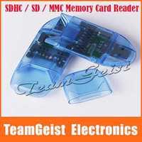 10pcs/lot High Speed USB2.0 SDHC/SD/MMC/Micro SD Card Reader Flash Memory card readers MAX 32GB For Digital Camera Free Shipping