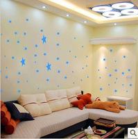 Bedroom ceiling wall-sticker cartoon star nursery children creative DIY waterproof bathroom tile stickers200pcs/lot