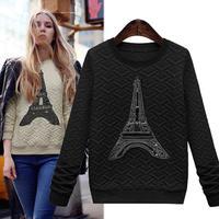Hot Sale Blusas Femininas 2014 Women Clothing Novelty Long Sleeve Appliques Warm Winter Cotton Blouses 5338