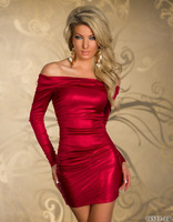 Supply of foreign trade lingerie Club suit long sleeves tight dress color 5 M/L/XL N141 sexiest lingerie