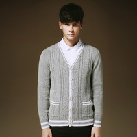 2014 New Arrival England Style Men's Casual Cardigan M-XXL Autumn Winter Wear  High Quality Free Shipping MWK045