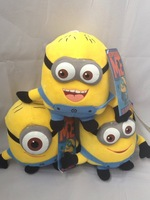 "25CM Despicable ME Plush Toys Minions Movie Doll 3D Eyes  10"" Children Dolls"