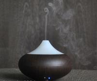 GX-02K Ultrasonic Ion Humidifier Light/Dark Wood grain Aroma Air Aromatherapy Diffuser