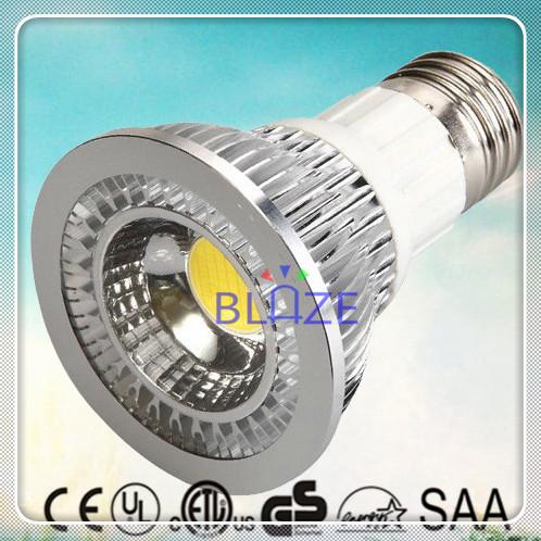 Hot Sale 50pcs/Lot 7W COB LED PAR20 Light bulbs Non Dimmable led lamps E26 E27 2700K 3000K 4000K 6000K(China (Mainland))