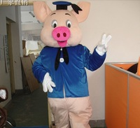 2014 New Doctor Pig Mascot Costume Adult Character Costume Cosplay mascot costume Free Shipping!