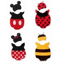 8sets/lot Wholesale Baby Clothes Sets Infantis for Girls Boy Bodysuit + Hat Cute Cartoon Kids Suit Summer Infant Clothing Wear