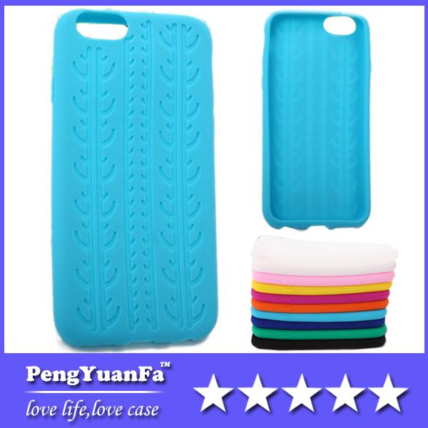 Tampa traseira pneu padr?o telefone silicone macio para iPhone 6 Ar 4,7 polegadas para o iPhone 6 Pro 5.5 polegadas(China (Mainland))
