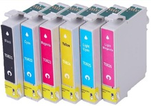 1set Ink Cartridge For EPSON R260 R280 RX380 RX680 RX580 RX595 printer