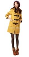 Winter Trench Coat Women Medium Long Oversize Warm Wool Jacket European Thick Coat Hooded Jacket Casual Fashion