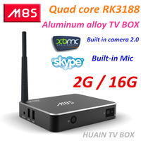 Perfect support XBMC M8  2GB 16GB Built in camera 2.0 and microphone quad core Android 4.4 tv box RK3188 Cortex A9 Bluetooth