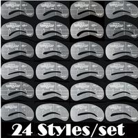 Make Up Eyebrow Stencils 24 Styles Reusable Eyebrow Drawing Guide Card Brow Template DIY Make Up Tools MU01