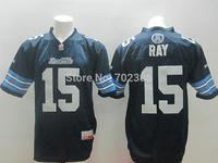 Free Shipping WHOLESAL Toronto Argonauts Mens CFL Jerseys #15 Ricky Ray Blue White Canada Football League Jerseys