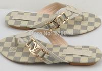 European Flip-Flops Home leisure clip toe sandals comfortable all-match women's sandals large siz 35--40
