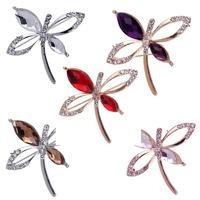 New Fashion Hot Sale Flying Dragonfly Brooch Pin Style Rhinestone Inlay Wedding  Jewelry