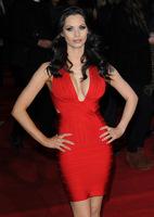 2014 NEW High Quality Bandage Bodycon Woman Dress Prom Ball Evening Party Slim Deep-V Dress