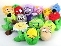 "Wholesale 5"" Plants VS Zombies Soft Plush Toy With Sucker A full 1 set 14 pcs"