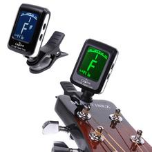 Мини Clip - на зажимом на ЖК-дисплей Guitar Tuner подсветки на 360 градусов Зажим для гитары хроматической Bass скрипки и Ukulele(China (Mainland))