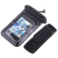 Deal PVC Waterproof Case Bag With 3.5mm Underwater Earphones for iPhone Cell Phone MP3 MP4 IP*8 Swimming PVC Diving Case