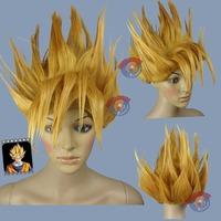 Dragon Ball Goku Saiyan Gold Halloween Cosplay Wig - CosplayDNA Wigs