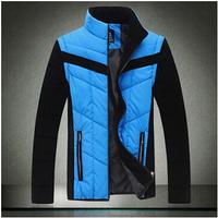 Big SIZE 2014 men's clothing trend wadded jacket sleeves detachable Exquisite men's jacket 5XL