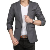 New 2015 Fashion Slim Fit Non Iron Men Suit Casual Blazer Large Size Coat 3XL Man Suits