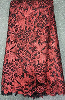 2014 fashion design african water soluble lace fabric for summer dresses african chemical lace W011-3