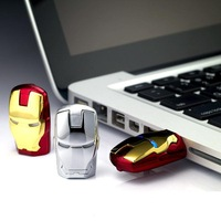 New22  Gold/Silver LED Iron Man mask 2.0 USB Flash memory stick pen drive 8GB disk/card gift toys