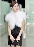 2012 faux vest fox fur vest faux kaross female cape cardigan slim formal dress