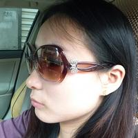 Hot 2014 Summer Sunglasses Large Frame Women Sun Glasses Bow Eyewear Eyeglasses Free Shipping #B-149