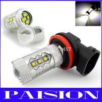 2pcs High Power 80W Osram LED Chips H11 Car Led Bulb Fog Daytime Running DRL Light 12/24V