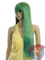 Jade Green Long Straight Cosplay Wig - 33 inch High Temp - CosplayDNA Wigs