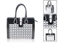 GREAT BULK PRICE Fashion Women Felt Shoulder Handbags Business Excursion Bags with Black Faux Leather