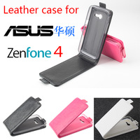 Luxury Original Pu Leather Case Cover for Asus ZenFone 4 Case ,High Quality Up and Down Flip Case Cover for asus ZenFone 4 Phone