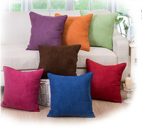 Solid Color 45*45cm Bed Sofa Throw Pillow Cases Square Pattern Pillowcases Car Back Cushion Cover Wholesales Home Decor