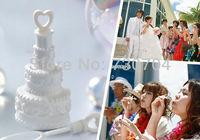 72pcs/lot Cake Shape Empty Soap Bubbles Bottles Wedding Souvenir Kids Happy Birthday Party Decorations Festive Supplies H-437