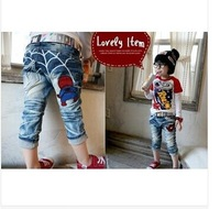 New spiderman design boys jeans washed denim pant baby boys casual pants brand kids trousers spring autumn boy's outdoor clothes