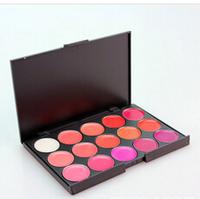 Professional Make Up 15 Color Gorgeous Lipsticks Lip Gloss Makeup Palette