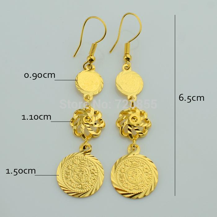 Wholesale Luxury Coin Set Necklace /Bracelet/Earring/Ring 18k Gold ...